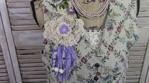 Shabby Chic Com by Purple Vintage Shabby Chic Brooch Pin Elegantly Primitive