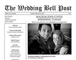 newspaper wedding program il 340x270 633374637 lobk jpg