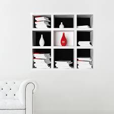 librerie muro adesivi da parete 3d cube book shelf libreria cubi tridimensionale
