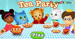 daniel tiger u0027s neighborhood tea party fun video games for kids