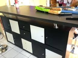 fabriquer une table haute de cuisine fabriquer une table bar de cuisine bar cuisine rangement sacparation