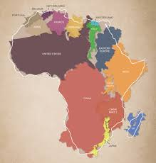 True Map Of The World by The True Size And Scale Of The African Continent Africa