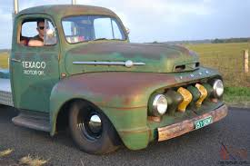 Vintage Ford Truck Australia - 1951 ford f100 custom ratrod hotrod f truck vintage texaco rod