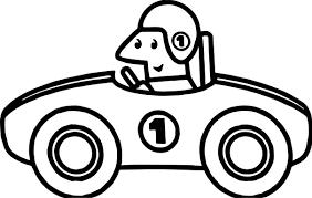 one number old race car coloring page wecoloringpage