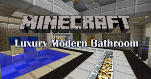 minecraft bathroom designs minecraft tutorial luxury modern bathroom