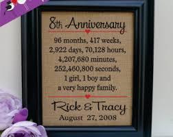 eighth anniversary gift 8th anniversary gift etsy