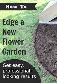 how to edge a flower garden the creek line house