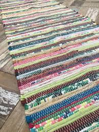 Multi Coloured Rug Uk Fab Recycled Hand Loomed Multi Coloured Rag Rug Runner 60 Cm X 240 Cm