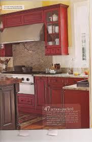 red cabinet kitchen