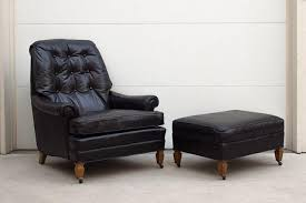 black leather club chair and ottoman drexel black leather chair ottoman homestead seattle