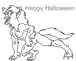 halloween coloring pages werewolf scared werewolf page vitlt com