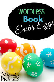 wordless book easter eggs free printable paradise praises