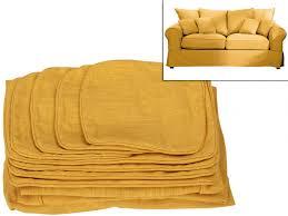 tissu housse canapé housses de canapé 2 places en tissu clara 2 coloris