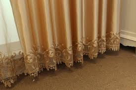Gold Color Curtains Gold Color Embroidery Luxury Blackout Window Curtains Drapes For