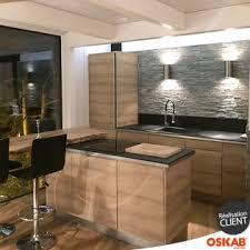 cuisine chaleureuse cuisine moderne et chaleureuse en bois avec briques de parement