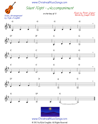 silent night for violin free sheet music