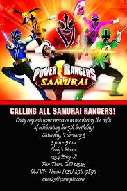birthday invites incredible power ranger birthday invitations