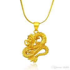 womens gold pendant necklace images Wholesale 2017 new arrival top quality gold dragon pendant jpg