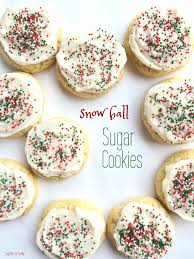 snow ball sugar cookies together as family