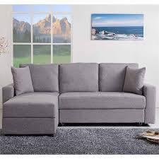Convertible Storage Sofa by Gold Sparrow Aspen Convertible Sectional Storage Sofa Bed In Ash