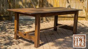how to build a modern dining room table out of old gymnasium