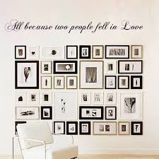 Wedding Wall Decor All Because Two People Fell In Love Wall Decal Anniversary Gift