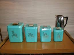 pottery canisters kitchen kitchen turquoise canister sets with simple kitchen accessories