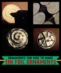 ornaments for to make from aluminum foil simple