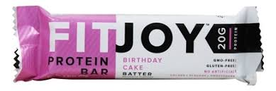 buy fitjoy nutrition protein bar birthday cake batter 2 11 oz