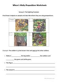 Preposition Practice Worksheets Where U0027s Wally