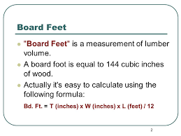 how to calculate the square footage of a house calculating board feet linear feet square feet ppt download