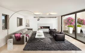 Area Rug Modern Cool Grey Shag Rug In Living Room Contemporary With Modern Ceiling