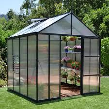Palram Harmony 6 X 8 Palram Essence Silver Hobby Greenhouse 8 X 12 Ft Hayneedle
