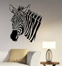 african animal wall art decal zebra vinyl sticker safari