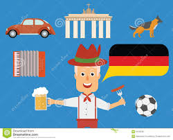 travel german concept german traditions and culture illustration