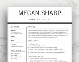 resume template on word resume template cv template for word professional resume