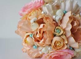 Shabby Chic Bridal Bouquet by Bridal Bouquet Silk Wedding Flowers Vintage Wedding Rustic