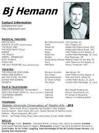 theatre resume template theatrical resume template musical theatre resume resume