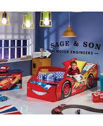Lighting Mcqueen Bedroom Disney Cars Lightning Mcqueen Feature Toddler Bed With Storage