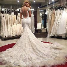 wedding dresses mermaid wedding dress lace backless wedding