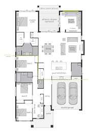 excellent floor plans for big family with triple garage and five