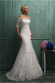 off the shoulder short sleeve lace wedding dress with jacket