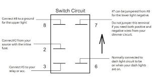 wiring a switch with an indicator infinitybox and 12 volt toggle