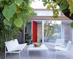 White Modern Outdoor Furniture by Metal Outdoor Furniture For Your Summer Garden Founterior