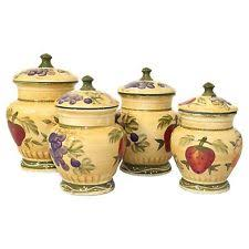 canister sets for kitchen tuscan kitchen canisters ebay