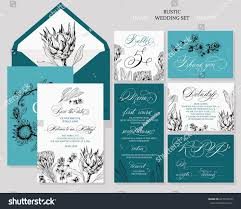 wedding invitation rsvp date template rustic wedding invitations save date stock vector