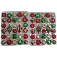 christmas ornament sets time gold green shatterproof christmas ornament set