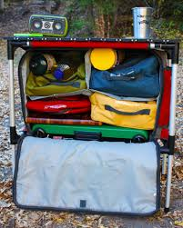 Portable Camping Kitchen Organizer - images of camping kitchen table with sink garden and kitchen