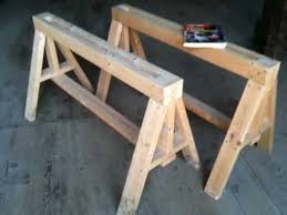 Build A Heavy Duty Picnic Table by Heavy Duty Sawhorses Easy To Build Youtube