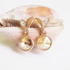 stylish gold earrings gold cherry earrings vintage stylish earrings simple earring